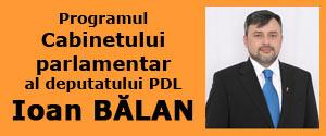 Programul Cabinetului parlamentar al deputatului PDL Ioan Bălan