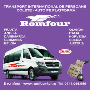 ROMFOUR - Transport international de persoane colete - auto pe platforma