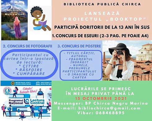 """Campanie de promovare a cărții/lecturii ,,BookTop"""" lansată de Biblioteca Publică Chirca din raionul Anenii Noi-Republica Moldova"""
