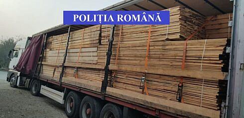 Transport ilegal de cherestea capturat pe raza comunei Slatina